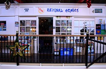 Retinal Comics shop front