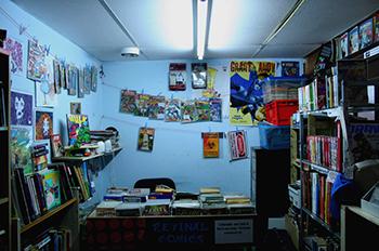 Retinal Comics shop counter desk