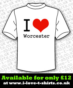 I Love Worcester T-shirt