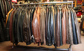 Court Leather - Rail of Leather Jackets