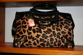 Court Leather - Leopard Print Bag