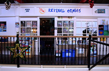 Retinal Comics shop front